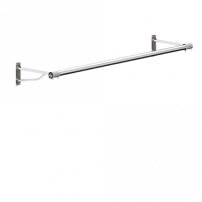 Wall Mounted Clothes Hanging Rail 1220mm Hanging Clothes Rail Hanging Rail Wall Railing