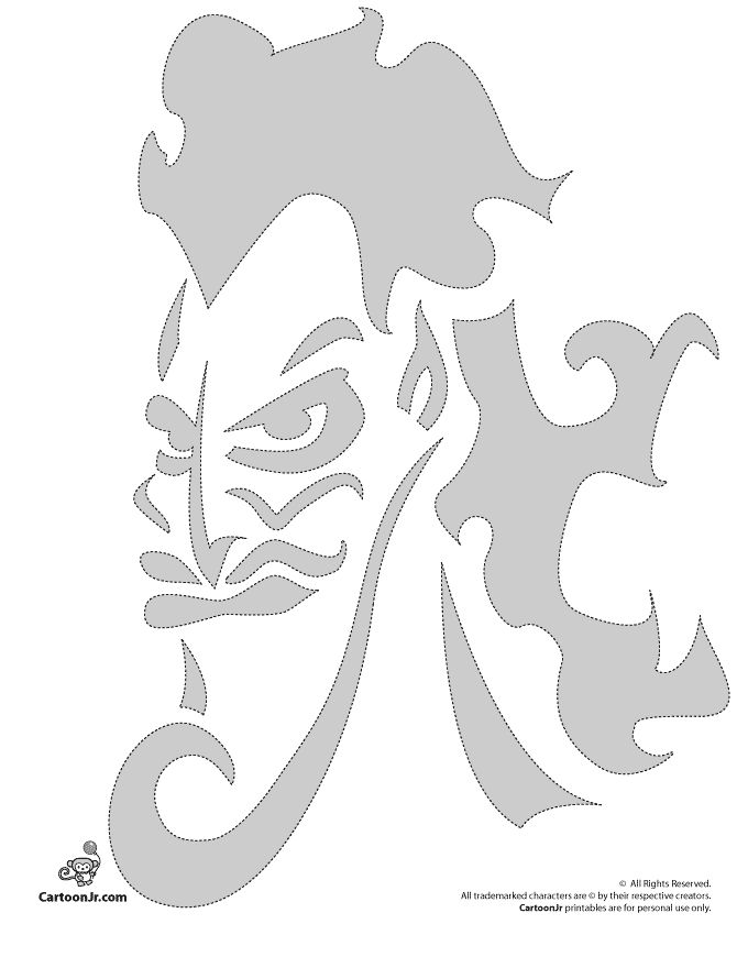 Pumpkin stencils disney carving patterns hades