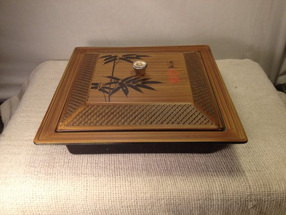 Asian Storage Box/Resin Serving Box with by MidCenturyAmericana - Perfect for our Firefly inspired kitchen!