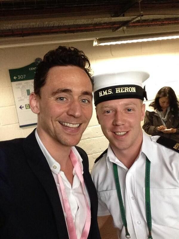 @marcmc3011: I was lucky enough to meet @Thomas Marban hiddleston at #wimbledon today, what a top guy and a brilliant actor! Source Twitter