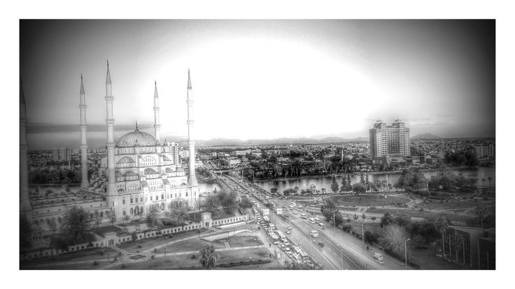 General view of Adana from the top of Günep Central Mosque