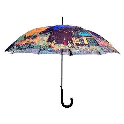 """""""Taras kawiarni w nocy"""" to obraz namalowany przez Vincenta van Gogha podczas kilku zaledwie wieczorów w miejscowości Arles - tak powstała wibrująca kolorami wieczorna scenka z uroczego miasteczka.  Parasol ten, jako należący do serii Art Collection Dopplera, możesz teraz kupić 10% taniej, posługując się kodem WzorowoKolorowo2016.  #parasoledlaciebie #parasol #umbrella #umbrellashop #sklepzparasolami #karnawal #promocja"""