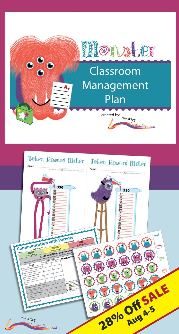 Using a fun monster theme, this token system is designed as a management tool to help motivate children to make responsible decisions, engage in tracking their progress, and communicate clearly with their parents. $ Get it while it's on sale!