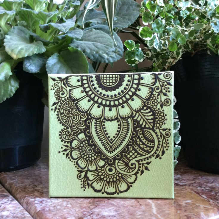 Freehand Henna Art on Canvas