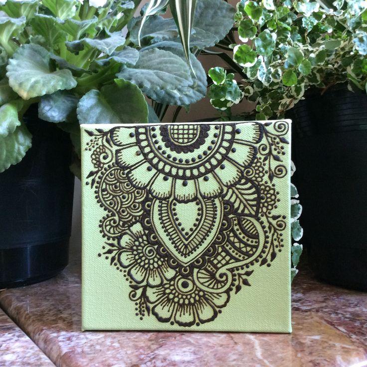 Freehand Henna Art on Canvas