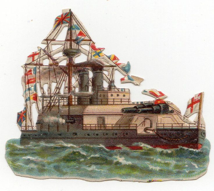 3 VICTORIAN SCRAPS SHIPS (I3) | eBay: