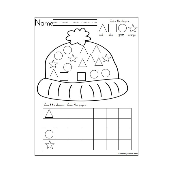 winter coloring pages math preschool - photo#31