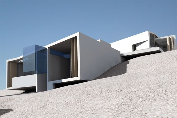Metris - Eisenstein's Story-Board Summerhouse  or  the house as a model for cinematic space - Anafi, Cyclades (A House for… - International Architectural Competition)