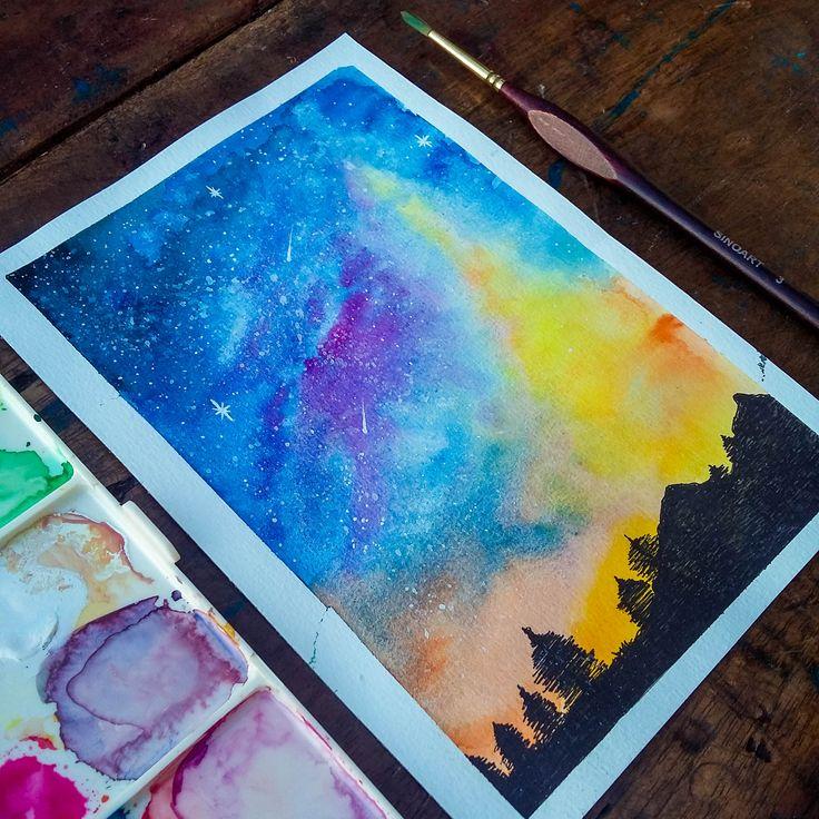 Watercolor Landscape 1. @anacbeier -  Facebook/anacristibeierilustrações.com