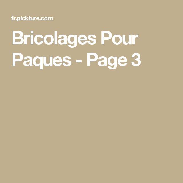 Bricolages Pour Paques - Page 3