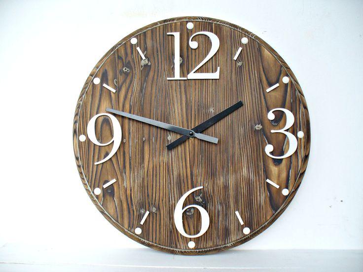 "Rustic Wall Clock 16"" Home Decor Wall Clocks  Handmade by DecoLavka on Etsy"