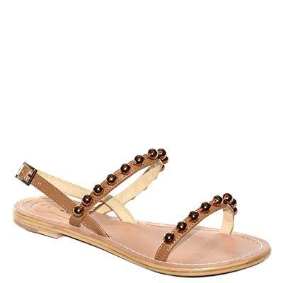 #Sandalo basso in cuoio realizzato in pelle color bronzo decorata da palline laminate in tinta di #Suite159  http://www.tentazioneshop.it/scarpe-suite-159/sandalo-s14253-bronzo-suite-159.html