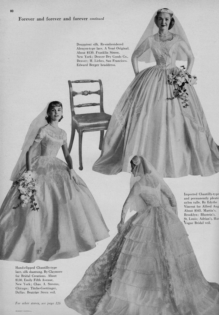 House Beautiful S Guide For The Bride 1955 2 Bridal Gowns Vintage Wedding Gowns Vintage Chic Vintage Brides
