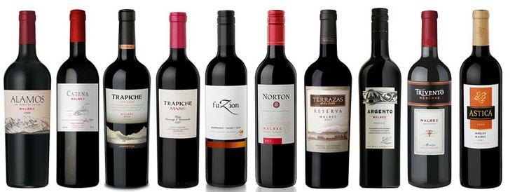 Imagen del vino argentino. Vinos más vendidos durante 2012.