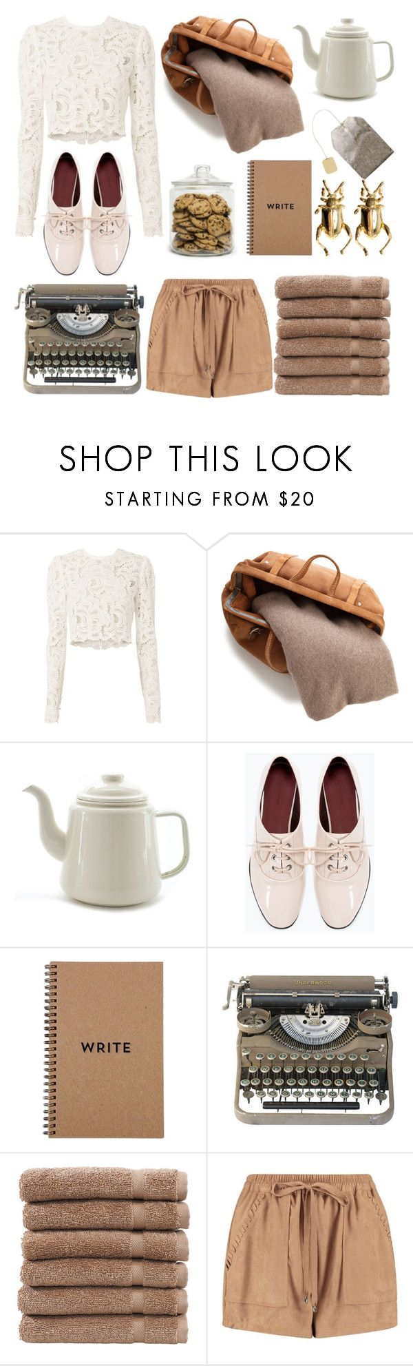 """Write me a novel"" by alongcametwiggy ❤ liked on Polyvore featuring A.L.C., White + Warren, Zara, Guide London, Brika, Linum Home Textiles, Boohoo and Dominic Jones"