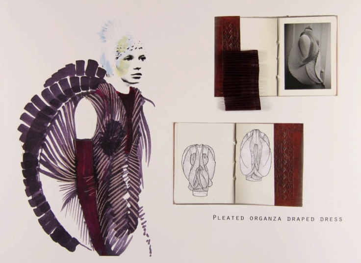 Fashion Sketchbook - fashion illustration; fabric manipulation & experimental fashion structures; the fashion design process