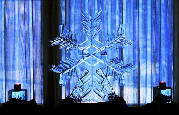 Ice Sculpture Winter theme  Brass Choir, Three Flutes only or Jazz Band for this cool setting.  www.beautifulmusic.cc