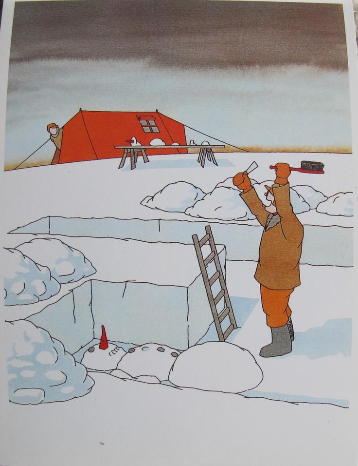 Snow archeologist. By Miroslav Barták