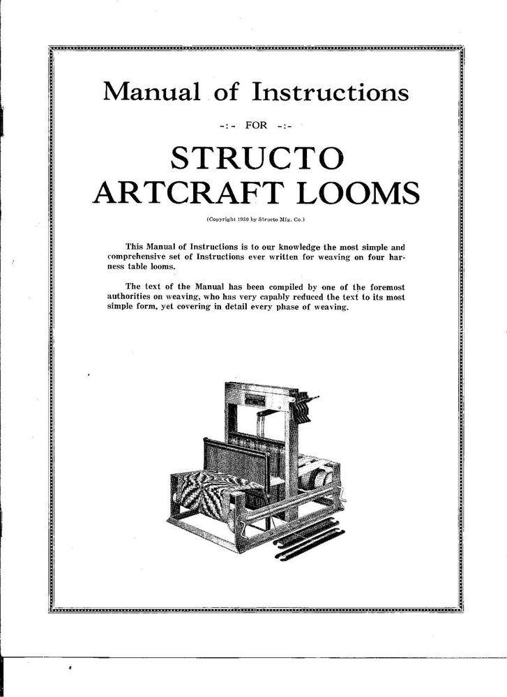 Details about Digital PDF Instruction Manual for Structo