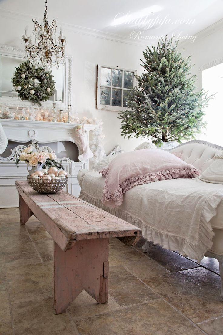 French Country - Shabby Chic Christmas - via Shabbyfufu