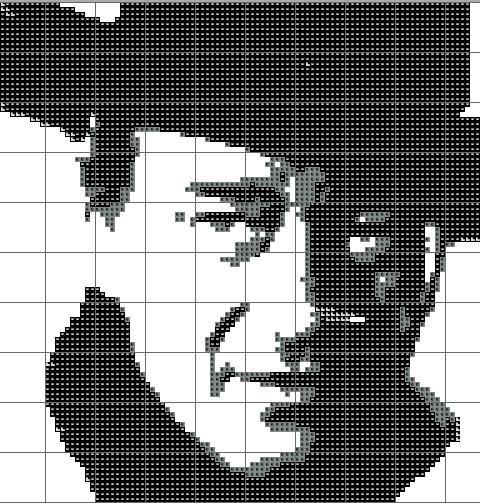 John Wayne-Cross Stitch Pattern