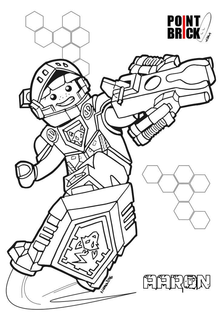 Disegni da Colorare LEGO NEXO Knights - Aaron - Clicca sull'immagine per scaricarla gratuitamente