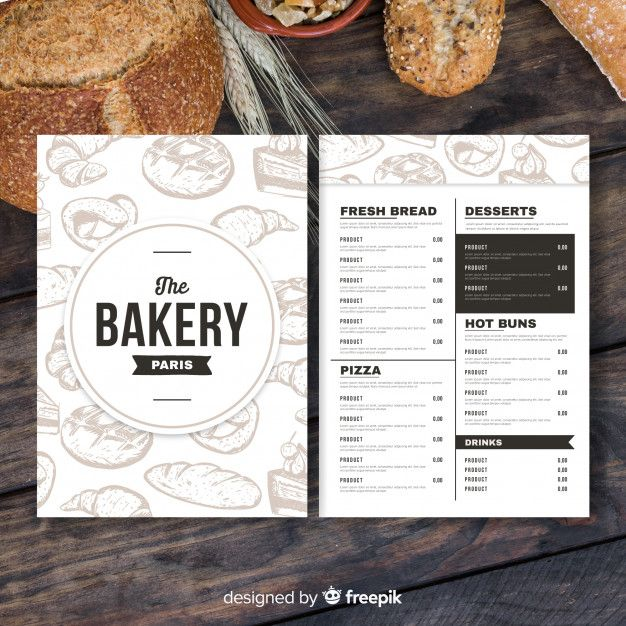 Download Retro Bakery Menu Template For Free Bakery Menu Cafe Menu Design Menu Template