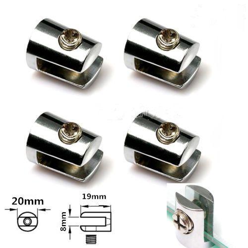 4Pcs Glass Plated Brackets Zinc Chrome Alloy Shelf Holder Support Clamp 5-8mm #jewelry, #women, #men, #hats, #watches, #belts