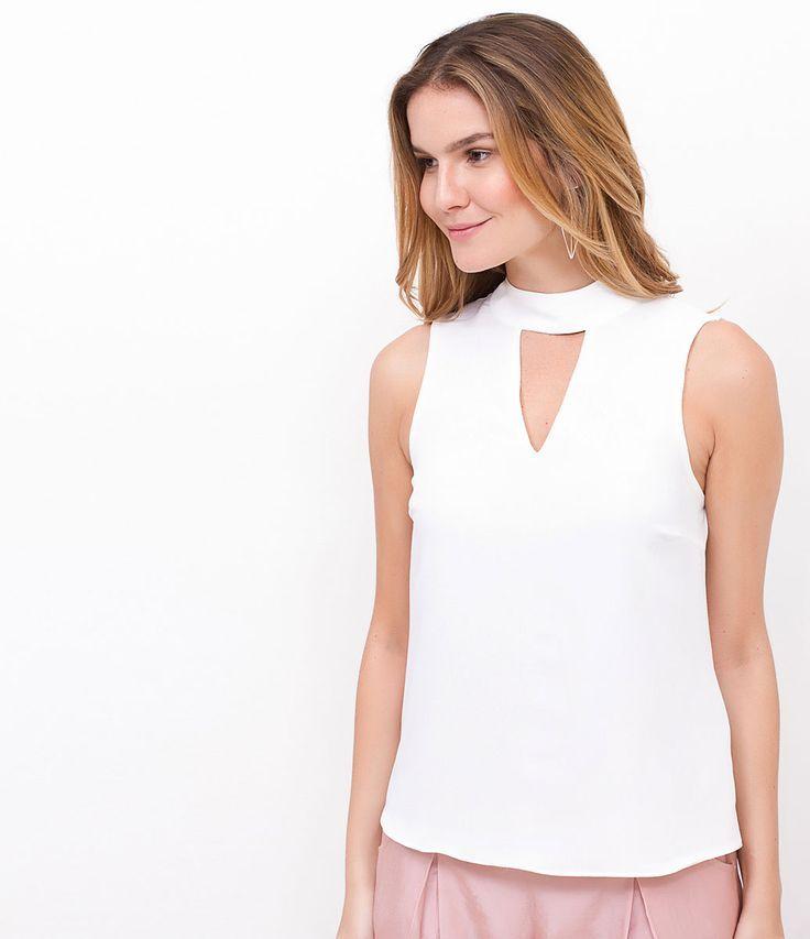 Resultado de imagem para blusa de gola alta feminina de tira