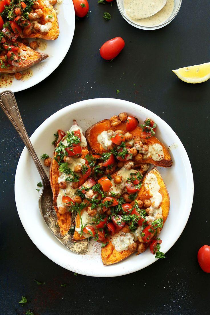 ERSTAUNLICHE 30-Minuten-Abendessen | Mittelmeer gebackene Süßkartoffeln #vegan #glutenfree