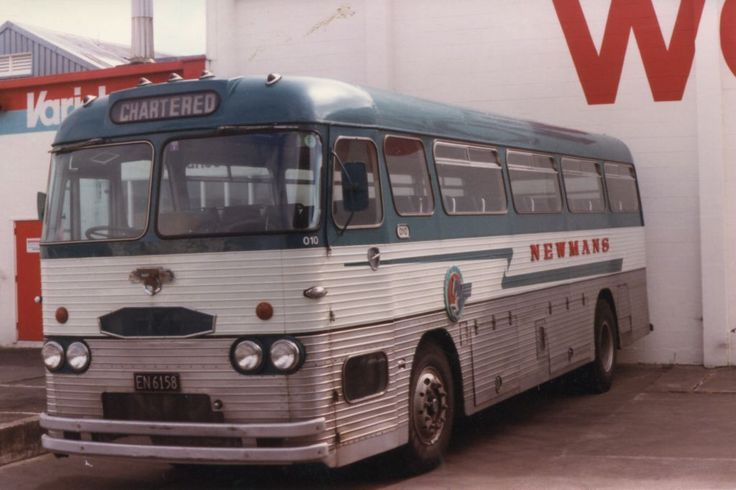 We caught a bus similar to this one (NZ Rail or Newmans) from New Plymouth to Auckland in 1974.