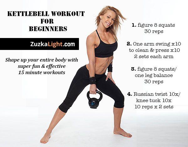 Kettlebell workout for beginners | ZuzkaLight.com