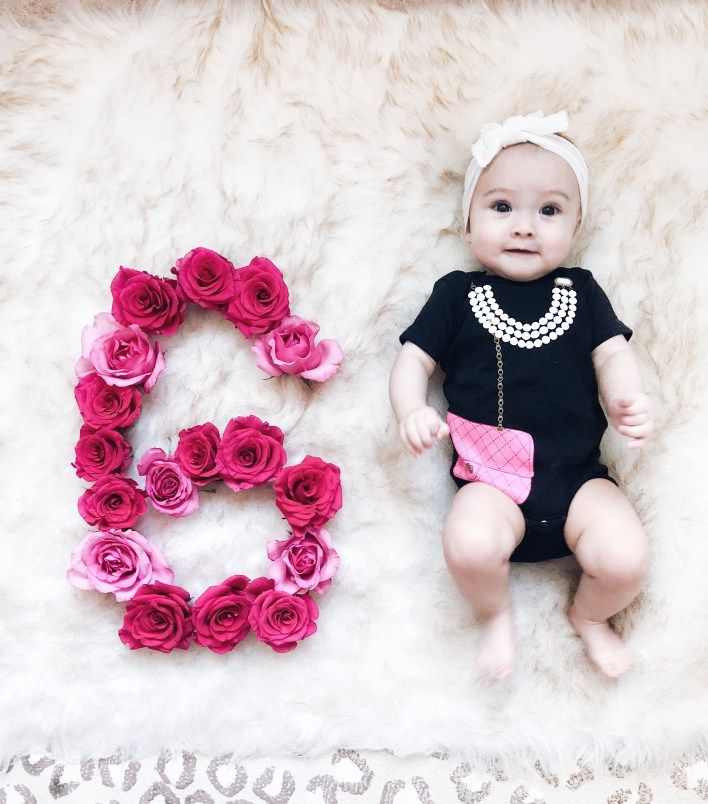 Valentines with baby, six months with baby, flowers with baby, monthly photos, monthly baby photos, Sara kety, baby, infant, monthly pictures of baby