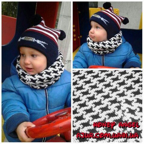 Детский снуд.  Возможен заказ в другом цвете, другой рисунок. По всем вопросам пишите в личку или ajur.com.ua@i.ua  #вязание #knitting #ajur #ажур #киев #купить #подарок #look #moda #мода #ajurcomua #ручная_работа #жаккард #foto #fashion #дизайнерскийтрикотаж #дизайнерский_трикотаж #авторский_трикотаж #honey_angel #honeyangel #авторскийтрикотаж #handmade #hand_made #шарф #снуд #для_детей #children