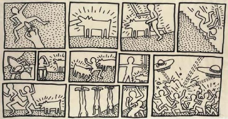 15 best haring keith images on pinterest keith haring keith keith haring the blueprint drawings deconstructed malvernweather Images