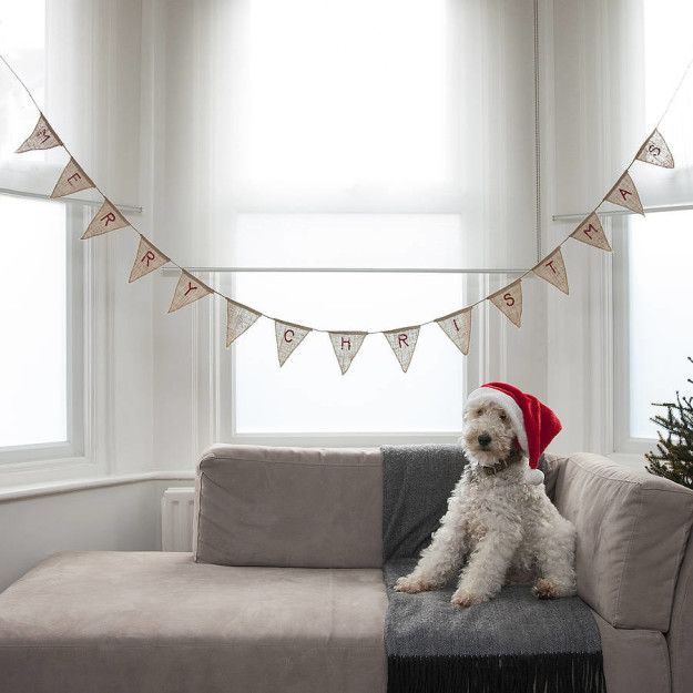 Merry Christmas bunting for people who aren't into tinsel. | 17 Minimalist Decorations For People Who Aren't That Into Christmas