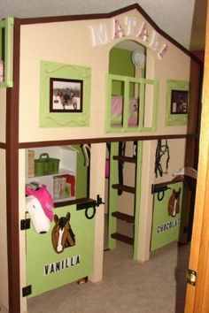 horse barn bunk bed - Google Search                                                                                                                                                     More