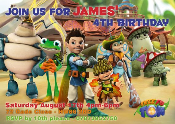 9 Best Tree Fu Tom Birthday Party Images On Pinterest