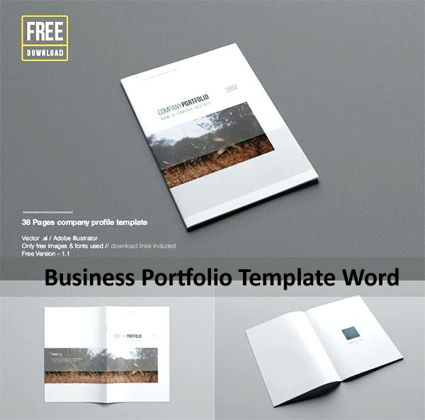 Business Portfolio Template Word