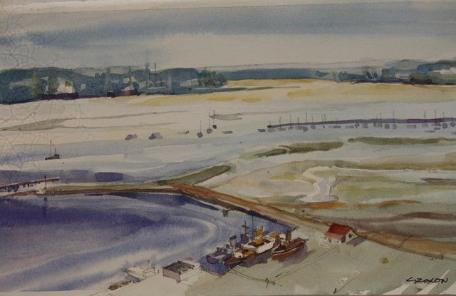 Durban Bay View West  Watercolour 160 x 270 mm