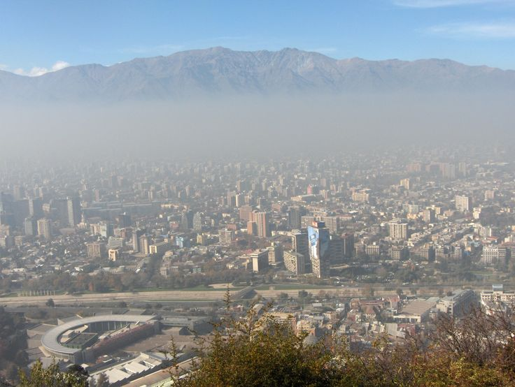 Santiago- City in the heart of the Andes mountain