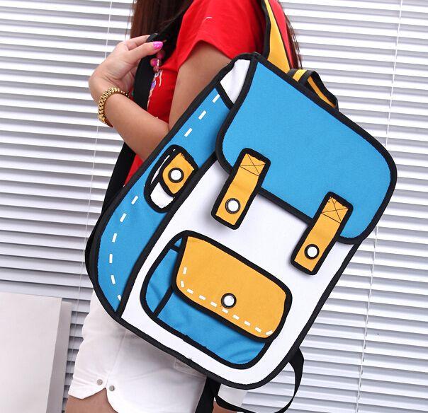 Secondary yuan 3 d cartoon bag in Three - dimensional bag GV823DD