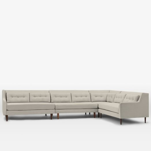 Crosby Mid-Century 4-Piece Sectional | west elm