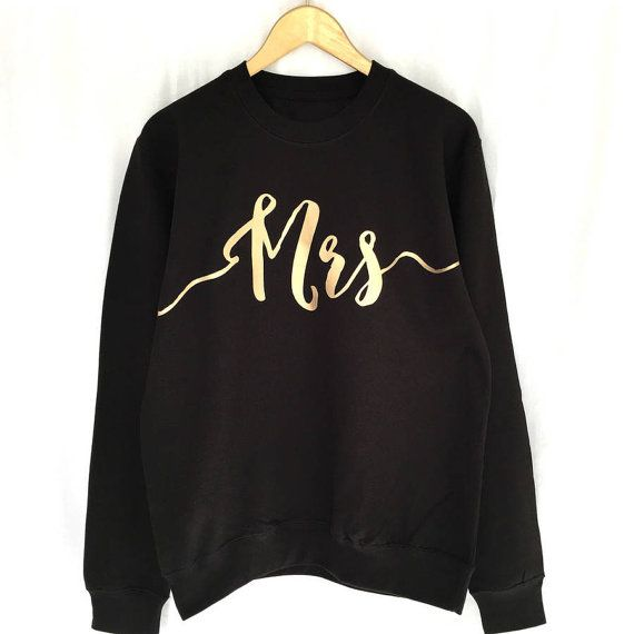 Mrs | Mrs Sweatshirt | Wedding Gift | Weddings | Mrs Sweater | Wedding Sweatshirt | Bride To Be
