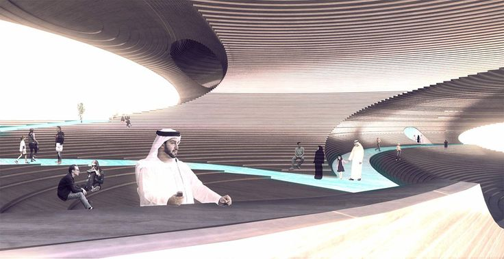 Explore Höweler + Yoon's mountainous design for Empathy Pavilion for Dubai Expo 2020