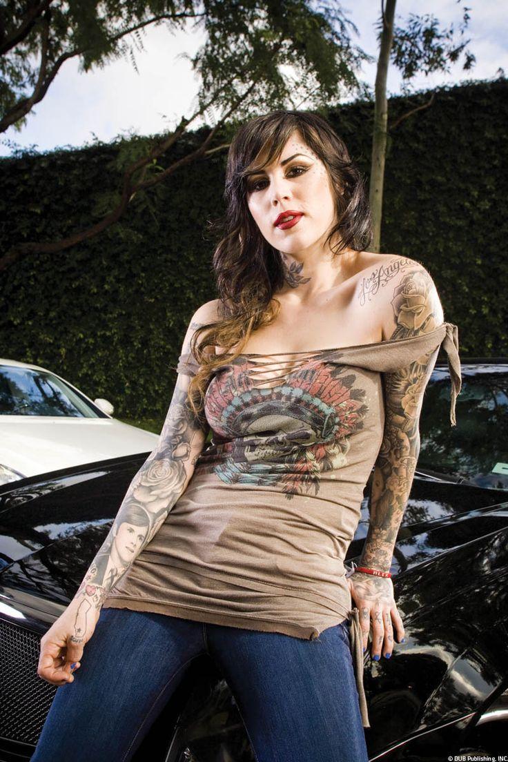 Tattoo Girl Von - Off the shoulder tied see more kat von tattoo girls
