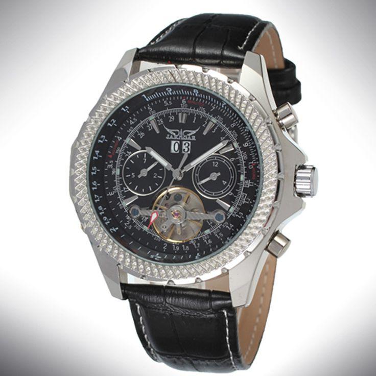 Dazzle JARAGAR Watch Unisex Mechanical Skeleton Auto Date Self Wind Reloj Fashion Waterproof Classic Black Leather Strap Montre on Aliexpress.com   Alibaba Group