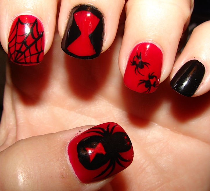 Black Widow Nail Ideas All H Llow S Eve Art Nails Designs