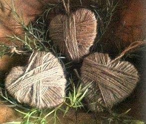 gkkreativ: Herzen aus Paketschnur