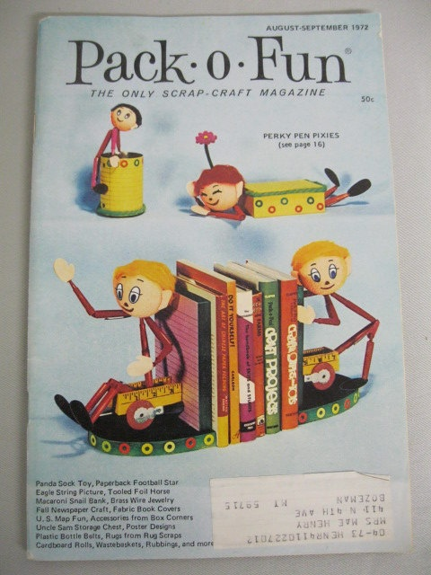 Vintage 70's Pack-O-Fun Scrap Craft Magazines